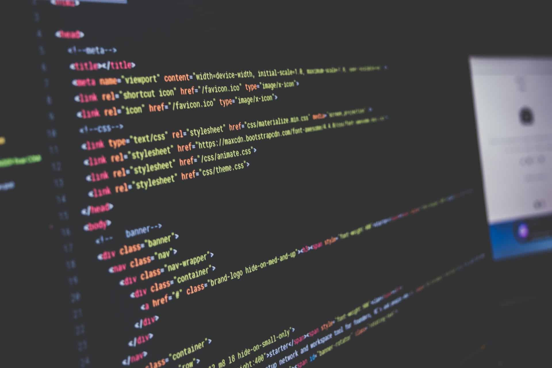 Custom code for website design projects